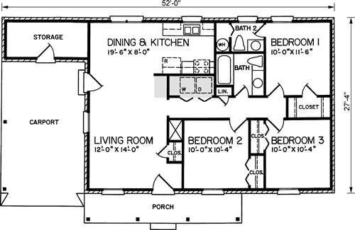3 Bedroom Ranch Floor Plans likewise Decorating A Ranch Style Home furthermore MR144040 Die Bult moreover Hwepl70628 moreover Garageplans. on brick carport plans
